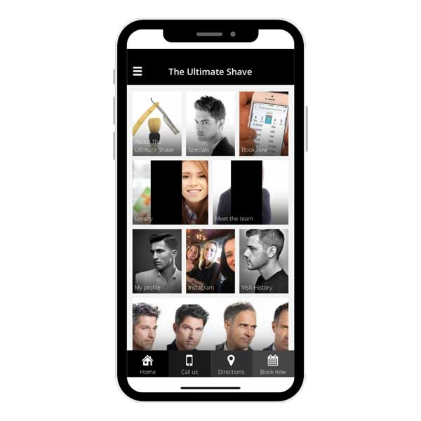 The Ultimate Shave on the myBarber app viewed on mobile